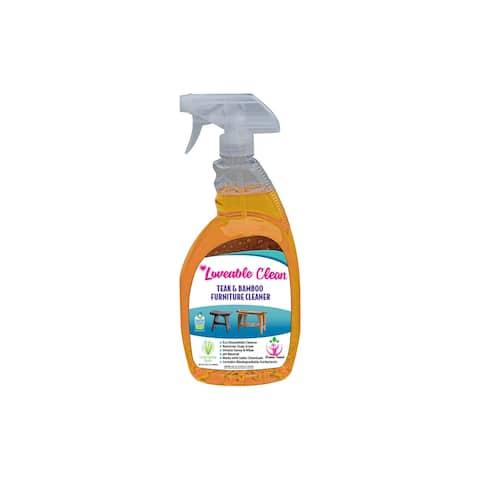 Loveable Clean - EPA Safer Choice - Teak & Bamboo Furniture Cleaner - 32 oz. Spray Bottle - N/A