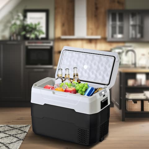 Car Fridge Portable Freezer Cooler Travel Refrigerator for Vehicles, Truck, RV, Camping BBQ, Patio Picnic and Fishing Outdoor