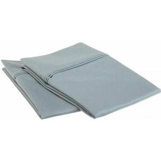 Egyptian Cotton 1200 Thread Count Solid Pillowcase Set King-Teal