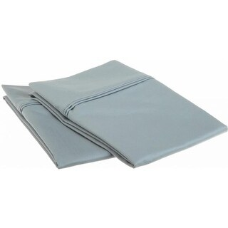 Egyptian Cotton 1200 Thread Count Solid Pillowcase Set Standard-Teal