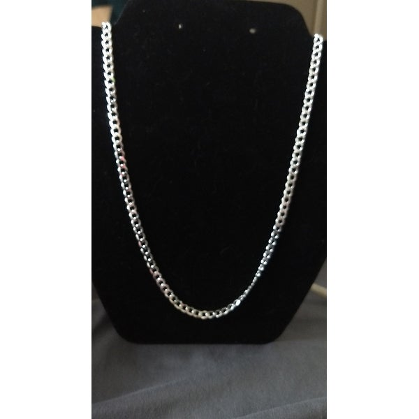 6f03196009 Shop Authentic Solid Sterling Silver 5mm Cuban Curb Link .925 ITProLux Necklace  Chains 16