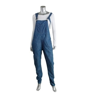 Rag & Bone Womens Chambray Double Side Zip Overalls - L