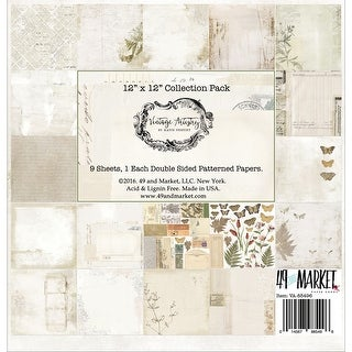 "Vintage Artistry Collection Pack 12""X12"" 9/Pkg-9 Designs/1 Each"