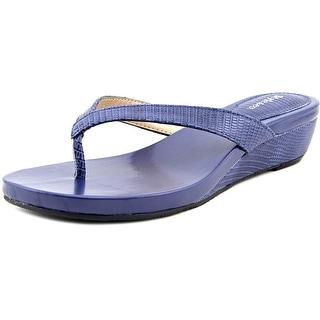 Style & Co Haloe Women Open Toe Synthetic Blue Wedge Sandal