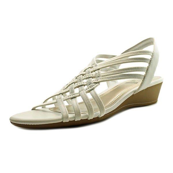 Impo Refresh Women Open Toe Synthetic White Wedge Sandal