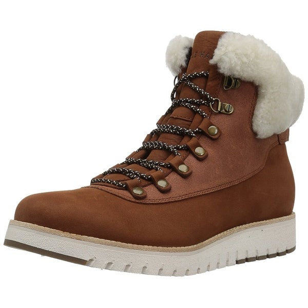 Cole Haan Womens Grand explore hiker Leather Closed Toe Ankle Cold Weather Bo...