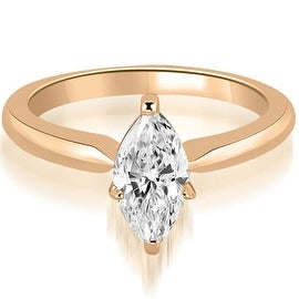 0.75 cttw. 14K Rose Gold Classic Solitaire Marquise Diamond Engagement Ring