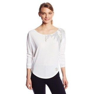 "Zumba Fitness Women's ""Stylin"" Long Sleeve Tee, White, XX-Large"