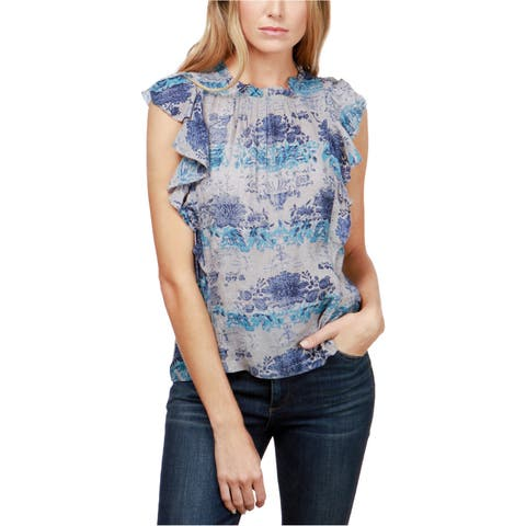 Lucky Brand Womens Lutter-Sleeve Knit Blouse