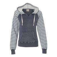 Women's Angel Fleece Sanded Piper Pullover Sweatshirt - Deep Blue - L