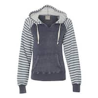 Women's Angel Fleece Sanded Piper Pullover Sweatshirt - Deep Blue - XL