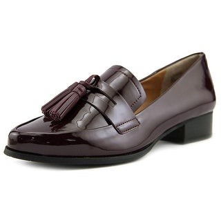 Tahari Looker Women Pointed Toe Patent Leather Burgundy Loafer
