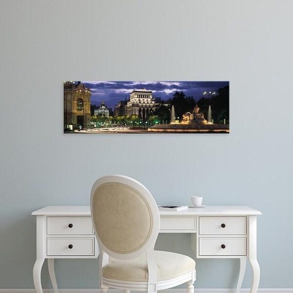 Easy Art Prints Panoramic Images's 'Madrid, Spain' Premium Canvas Art