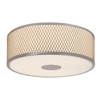 Trans Globe Lighting 10141 3 Light Round Flush Mount Ceiling Fixture with Frosted Shade and Diamond Frame
