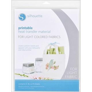 "Silhouette Printable Heat Transfer Material 8.5""X11"" 5/Pkg"