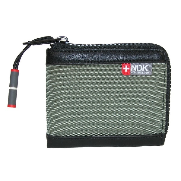 NDK Men's RFID Protected L-Zip Bifold Wallet - One size