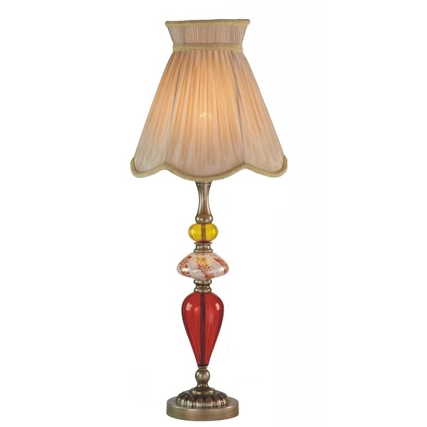"29.5"" Art Glass with Polystone Table Lamp"