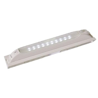 Fulcrum 30050-308 10-LED Anywhere Sensor Light with Mounting Bracket, White
