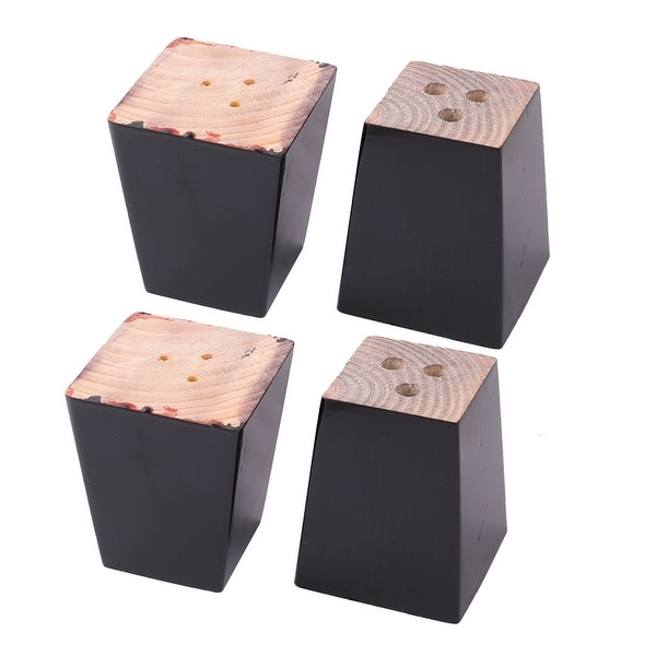 Home Wooden Furniture Cabinet Chair Couch Sofa Legs Feet Replacement Black 4pcs
