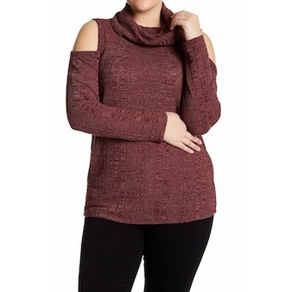 625163a522d Shop Socialite NEW Red Womens Size 1X Plus Cowl Neck Cold-Shoulder Sweater  - Free Shipping On Orders Over  45 - Overstock - 18513178