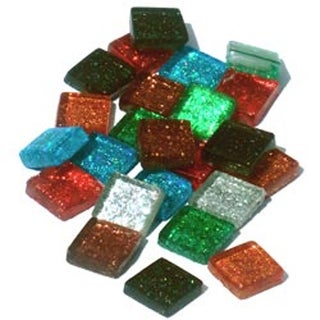 Assorted - Vitreous Glass Mosaic Tiles .5Lb