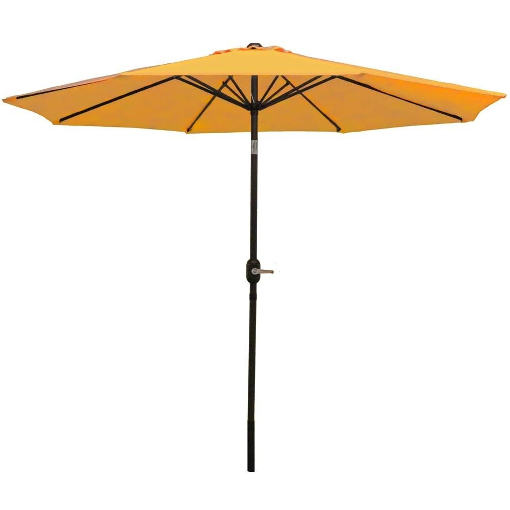 Sunnydaze Aluminum 9 Foot Patio Umbrella with Tilt & Crank - Thumbnail 9