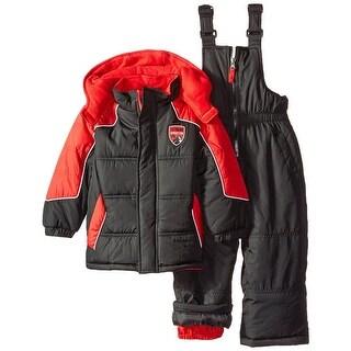 iXtreme Boys 12-24 Months Color Block Snowsuit - Black