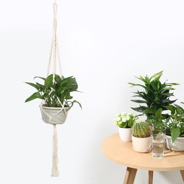 10 In Metal Adjustable Flower Pot Holder Planter Garden Plant Hanging Outdoor