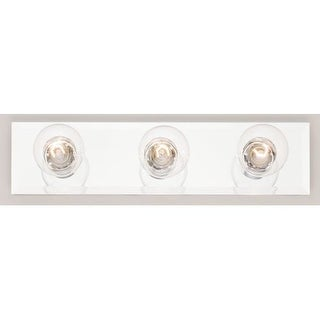 """Westinghouse 66448 3 Light 18"""" Wide Bathroom Fixture with Beveled Mirror"""