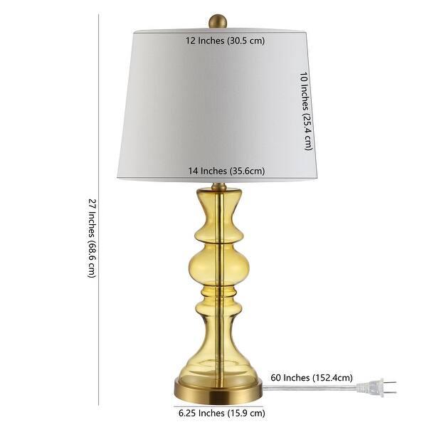 Safavieh Lighting Jaiden Amber 27 Inch Led Table Lamp 14 W X 14 L X 27 H Overstock 27123753 Amber