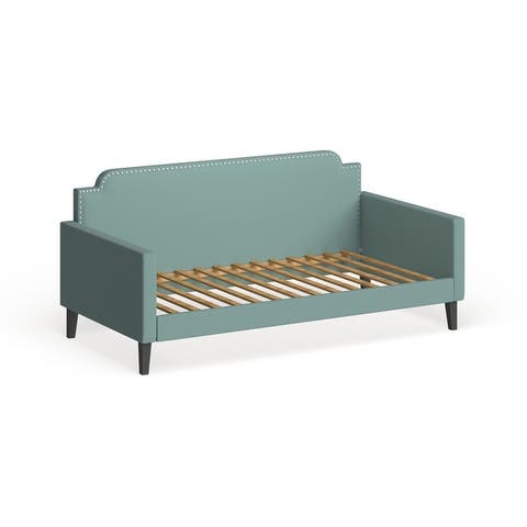 Handy Living Upholstered Twin-size Velvet Rounded Back Daybed