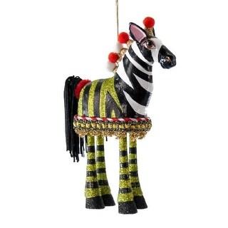 Zebra Zoo Animal Dangle Legs Christmas Holiday Ornament
