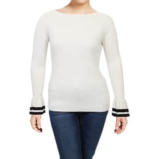Lauren Ralph Lauren Womens Zakaria Pullover Sweater Ruffle Cuff Long Sleeve 433a36b9d1a5