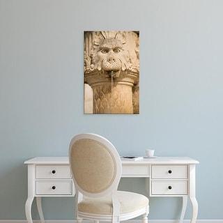 Easy Art Prints John & Lisa Merrill's 'Stone Fountain With Gargoyle' Premium Canvas Art