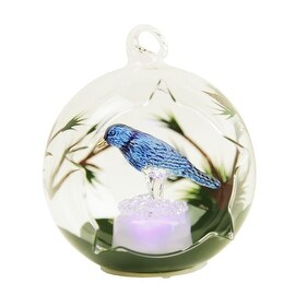 Gerson Color Changing LED Glass Globe Bluebird