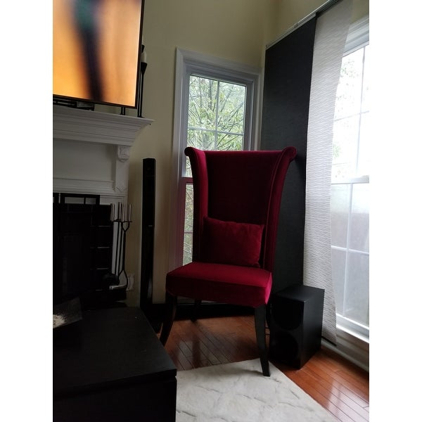 Shop Armen Living Mad Hatter Red Velvet High Back Chair   On Sale   Free  Shipping Today   Overstock.com   7278916