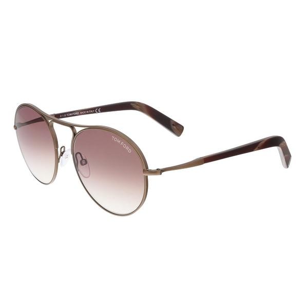 Tom Ford FT0449 49T JESSIE Bronze Aviator Sunglasses
