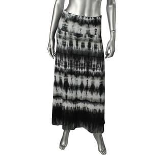 Love Fire Womens Juniors Maxi Skirt Tie-Dye Pull On