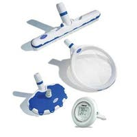 HydroTools Cobalt Series Premium Swimming Pool Cleaning Maintenance Kit - White