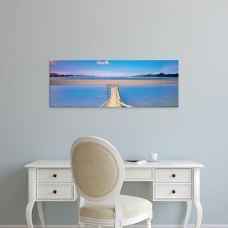 Easy Art Prints Panoramic Images's 'Pounawea Pier South Island New Zealand' Premium Canvas Art