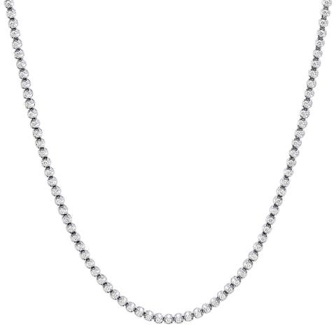 Mens Tennis Style Diamond Chain Necklace 13ctw in 14k Gold by Luxurman