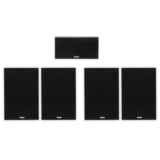 Acoustic Audio 4 Bookshelf & Center Home Speakers 5 Piece Set 425 Watt PS-S6C3-5
