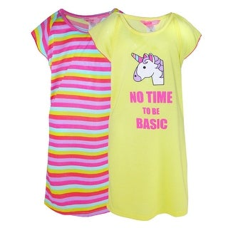 Katnap Kids Girls Ruffled Sleeve Nightgowns (Pack of 2)