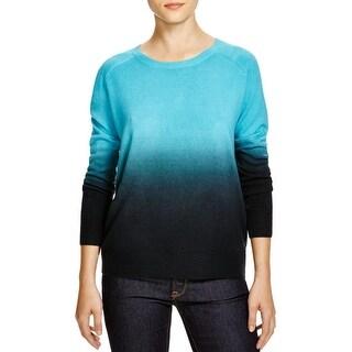 Aqua Womens Sweater Knit Dip-Dye