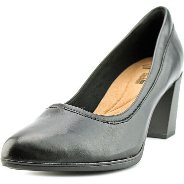 Clarks Narrative Araya Moon Women Pointed Toe Leather Black Heels