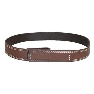 Myself Belts Toddler Contrast Stitch One Hand Hook and Loop Close Belt - Brown - One Size