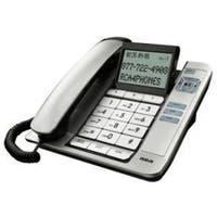 Rca 11131Bsga Silver Corded Desktop Phone Caller Id Speaker