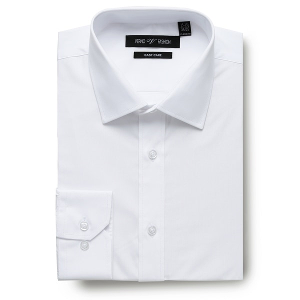 Men's Regular Fit Travel Easy-Care Cotton Dress Shirt. Opens flyout.