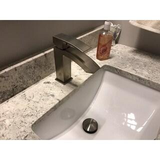 VIGO Satro Bathroom Single Hole Faucet in PVD Brushed Nickel