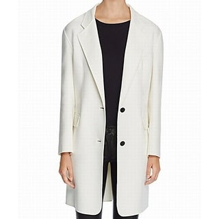 DKNY NEW White Ivory Women's Size Small S Drop Shoulder Basic Jacket